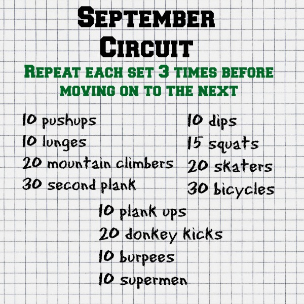 September Circuit Workout