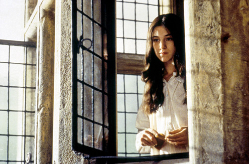 Charlotte Gainsbourg as Jane Eyre in 1996